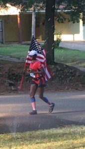 One of the amazing runners in the Tupelo Marathon