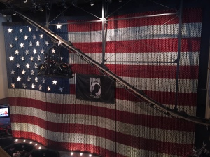 American flag wall at the Harley Davidson Restaurant